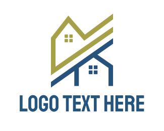 House - Neighbor Houses logo design