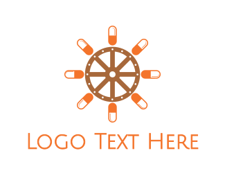 Wheel - Pill Wheel logo design
