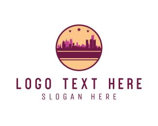 Town - City Circle logo design