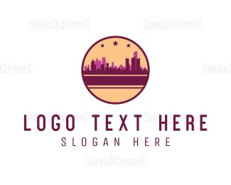 Downtown - City Circle logo design