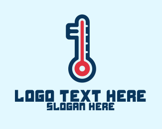 Thermometer - Modern Digital Thermometer  logo design