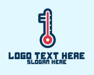 Digital Marketing - Modern Digital Thermometer logo design