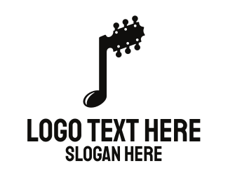 Compose - Guitar Note logo design