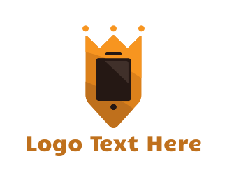 Online Learning - King Phone logo design