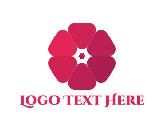 Bloom - Pink Blossom logo design
