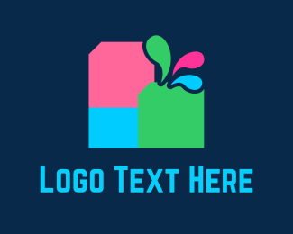 Rgb - Colorful Ink logo design
