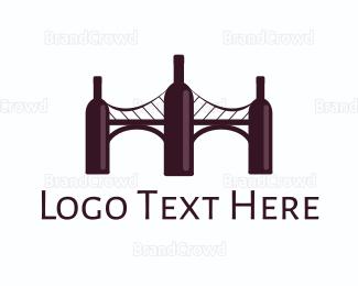 Wine - Wine Bridge logo design