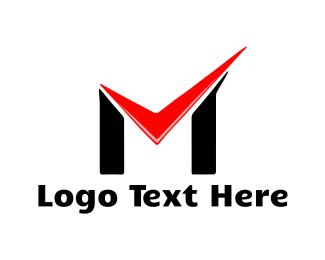 Evidence - Check Letter M logo design