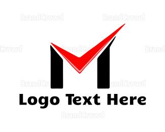 Complete - Check Letter M logo design