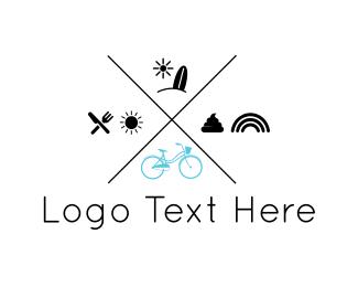 Trip - Bike Tour logo design