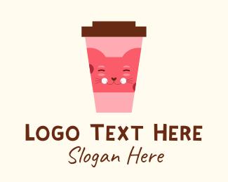 Shop - Cat Cafe Shop  logo design