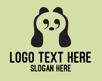 Punctuation Mark - Clever Quote Panda logo design