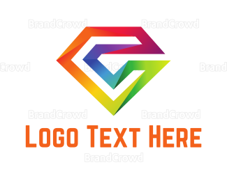 Crystal - Colorful Diamond Letter logo design