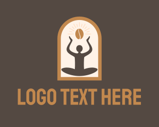 Arch - Yoga Coffee Arch logo design