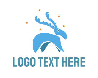 Elk -  Blue Moose logo design
