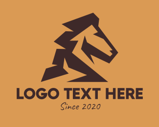 Mule - Brown Horse logo design