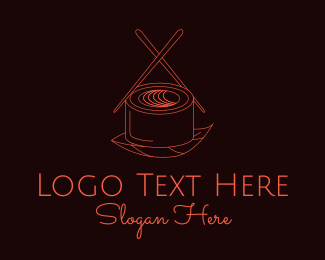 Dining - Sushi Chopsticks logo design