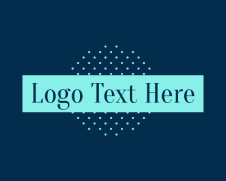 Classic Blue Text Logo