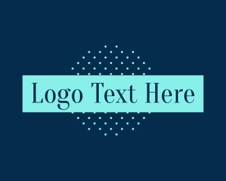 Vintage - Classic Blue Text logo design