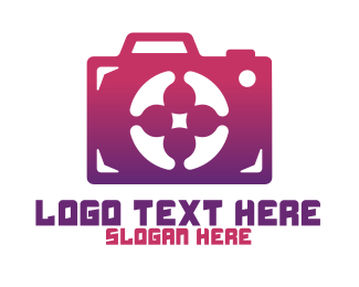Instagram - Purple Camera logo design