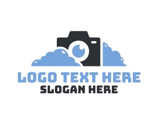 Dslr - Cloudy Photography logo design