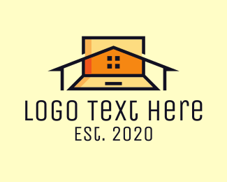 Dormitory - Remote Home Job logo design