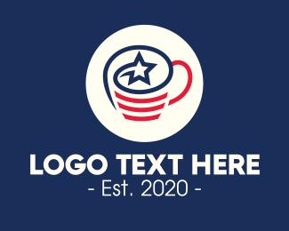 Patriotism - American Coffee Cup logo design