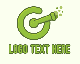 Cannon - Chemical Letter G  logo design