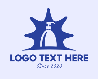 Handwashing - Blue Liquid Soap logo design