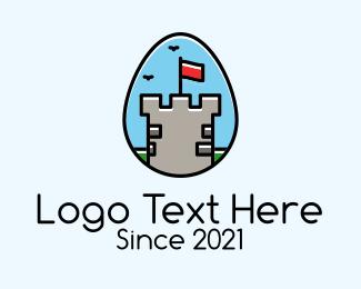 Fort - Medieval Fort Egg logo design
