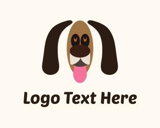 Snout - Brown Dog Cartoon logo design