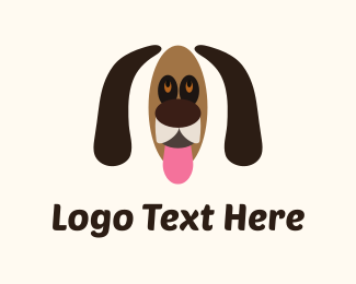 Tongue - Brown Dog Cartoon logo design