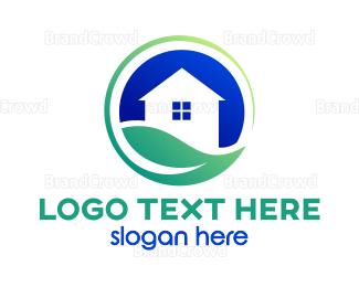 Environmental - Earth House logo design