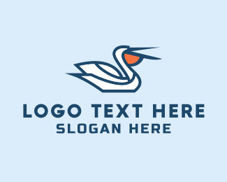 Migration - Pelican Beach logo design