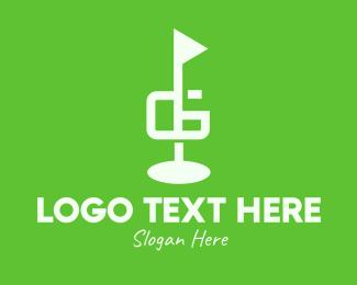 Golf Course - Golf Course Letter G logo design