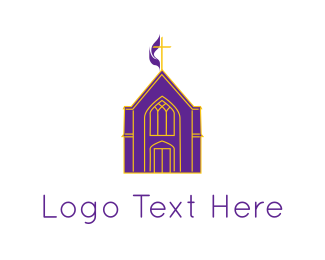 Bible - Purple Church logo design