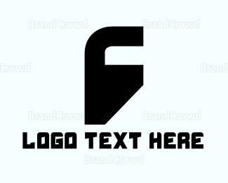 Silhouette - Letter F Silhouette logo design