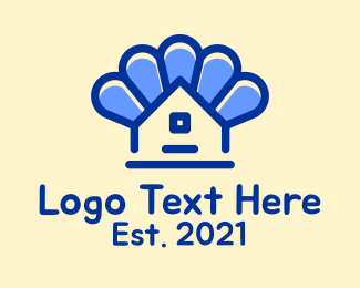 Petals - Blue House Petals logo design