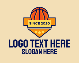 Basketball Court - Basketball Emblem logo design