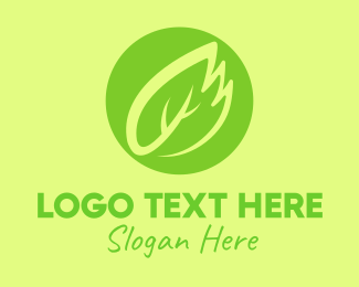 Ecofriendly - Green Leaf Feather logo design