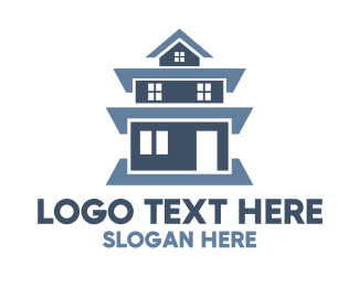 Vietnamese - Blue Tall House logo design