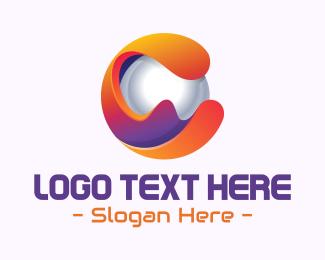 Pearl - 3D Sphere Letter C  logo design