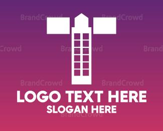 Condominium - Minimalist Letter T Building logo design