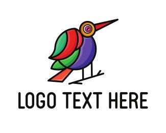 Beak - Colorful Beak Bird logo design
