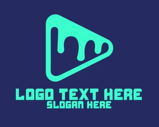 Melting - Melted Media Player logo design