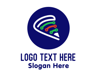 Italian - Italian Pizza Technology logo design