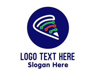 Italian - Italian Pizza Technology logo design
