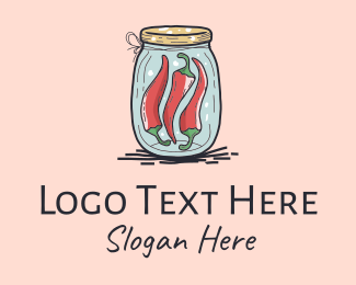 Spices - Chili Peppers Jar  logo design