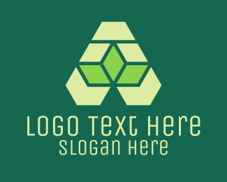 Origami - Green Origami Lettermark logo design