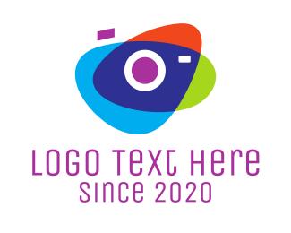 Tagline - Abstract Camera logo design